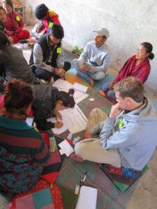 Les participants en plein travail
